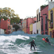 Surfing Quebrada Poster