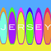 Surfs Up - Jersey Poster