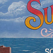 Surfside Beach Sign Poster