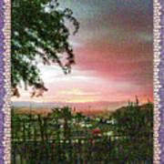 Surreal Desert Sunset Poster