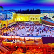 Surreal Jerusalem Art Poster