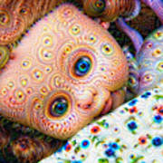 Surreal Trippy Deep Dream Doll Poster