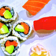 Sushi Plate 6 Poster