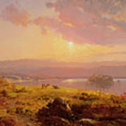 Susquehanna River Poster by Jasper Francis Cropsey