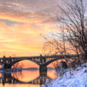 Susquehanna Sunrise Poster by JC Findley