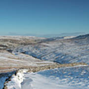 Swaledale In Winter Poster