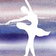 Swan Lake Ballerina Silhouette Poster