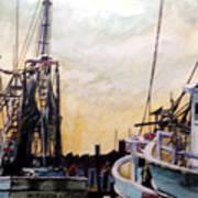 Swansboro Shrimp Boats Poster