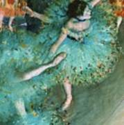 Swaying Dancer In Green Poster
