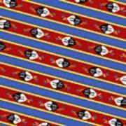 Swaziland Flag 3 Poster