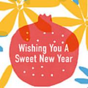 Sweet New Year Card- Art By Linda Woods Poster