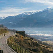 Swerving Road In Valtellina, Italy Poster