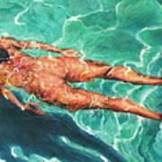 Swimmer 21 Poster