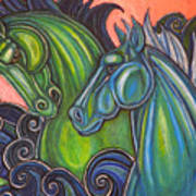 Swimming Horses  Poster