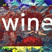 Swimming In Wine Poster