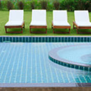 Swimming Pool And Chairs Poster