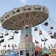 Swing Carousel At County Fair Poster