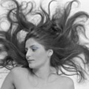 Swirl Girl Poster by Gerard Fritz