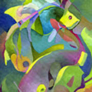 Swirling Fish Poster