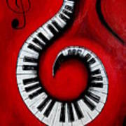 Swirling Piano Keys- Music In Motion Poster