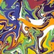 Swirls Drip Art Poster