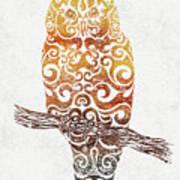 Swirly Owl Poster