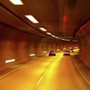 Swiss Alpine Tunnel Poster