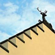 Swiss Deer On Zurich Rooftop Poster