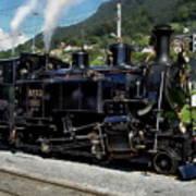 Swiss Steam Locomotive Poster