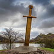Sword Of Llanberis Snowdonia Poster