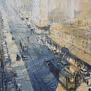 Sydney, George St. In 1930 Poster