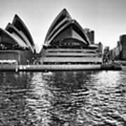 Sydney Opera House-black And White Poster