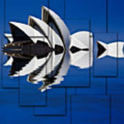 Sydney Opera House Collage Poster