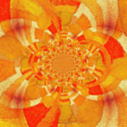 Symmetrical Abstract In Orange Poster