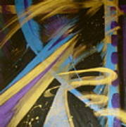 Blue Symphony On Black II Poster