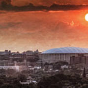 Syracuse Sunrise Over The Dome Poster