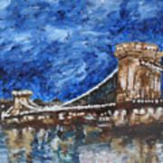 Szechenyi Chain Bridge Budapest Poster
