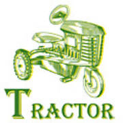 T Is For Tractor Poster