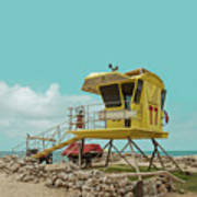 T7 Lifeguard Station Kapukaulua Beach Paia Maui Hawaii Poster