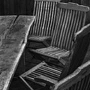 Table And Chairs Husavik Iceland 3767 Poster