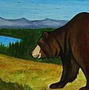 Taggart Lake Bears Poster