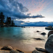 Tahoe Bursting Clouds Poster