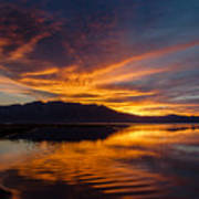 Tahoe Sunset Luminosity Poster