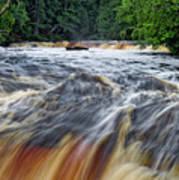 Tahquamenon Lower Falls Upper Peninsula Michigan Vertical 01 Poster