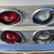Tail Lights Of A 1966 Chevrolet Corvette Sting Ray 427 Turbo-jet Poster