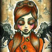 Take Flight Steampunk Aviator Poster