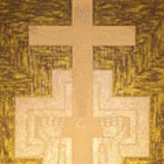 Take It To The Cross Silver Gold Poster