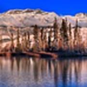 Talbot Lake Afternoon Panorama Poster