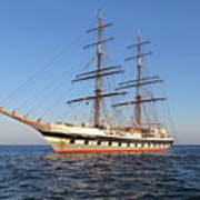 Tall Ship Anchored Off Penzance Poster
