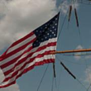 Tall Ship Flag IIi Poster